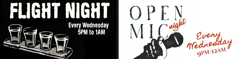 Wednesday Events: Flight Night & Open Mic Night - Downtown Ithaca NY